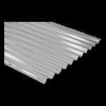 Chapa de policarbonato sinusoidal 0,6 mm Color Cristal