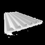 Fibra de Vidrio Blanca Translúcida Acanalada Reforzada 350g