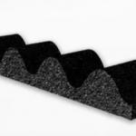 Burlete compriband sinusoidal para junta chapa x metro lineal