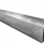 Caño de bajada galvanizado de 5×10 cm (rectangular) x 2 m