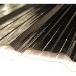 Chapa de policarbonato trapezoidal 0,8 mm / Colores: Blanco (opalino) o Fumé (Bronce)