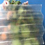 Fibra de Vidrio Transparente Acanalada Reforzada 355