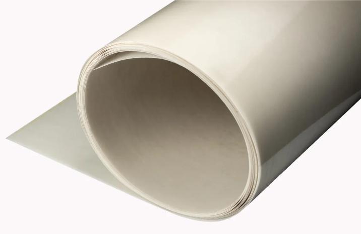 Chapa lisa de fibra de vidrio blanca x metro